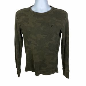 AMERICAN EAGLE Men's Vintage Fit Camo Thermal Tee